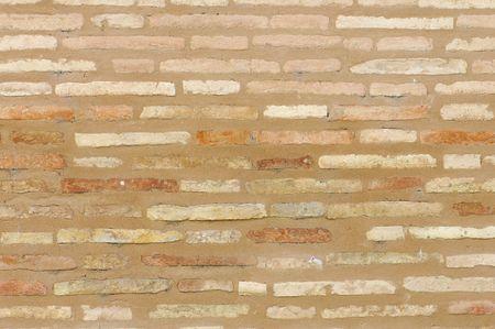 Edad de Piedra: antiguo muro de ladrillo en una antigua construcci�n
