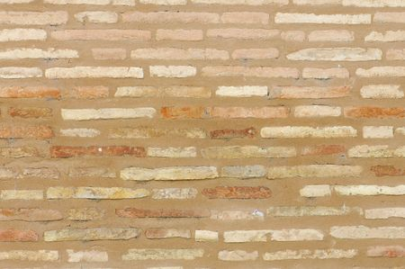 stonewall: old brick wall in an old construction