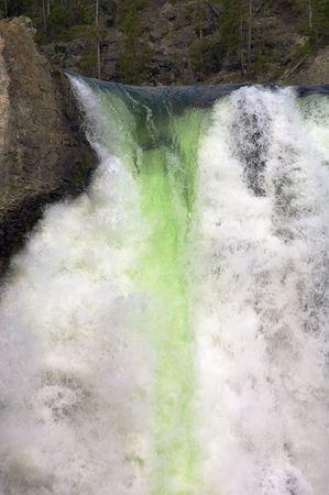 lower yellowstone falls: Lower Falls of the Yellowstone National Park Stock Photo