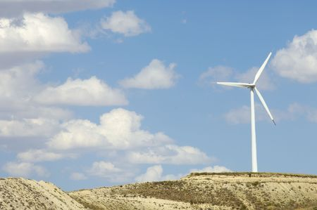 windmills against blue sky with clouds Stock Photo - 6054936