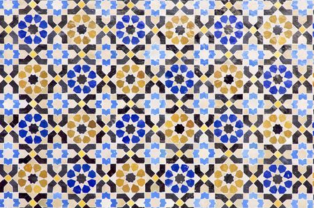 ceramic tiles: Arabic mosaic of colors that form a beautiful puzzle