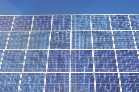 detail of a photovoltaic panel photo