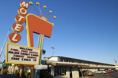 poster red motel in Las Vegas, Usa photo