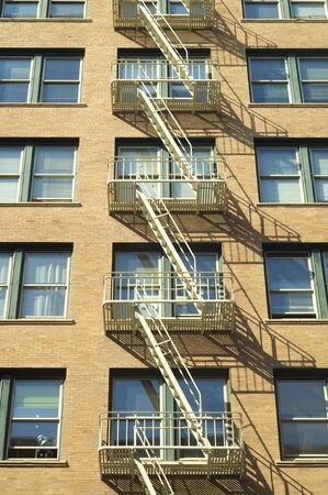 fire escape in facade, San Francisco, Usa Stock Photo - 6102332