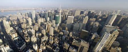 places of work: panoramic view in Manhattan, New York