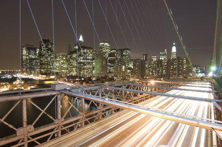 Brooklyn bridge and skyline in the night Stock Photo - 6102483