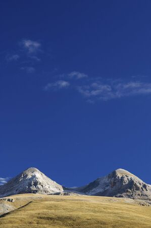 anisclo: two rounded hills in the valley of Anisclo (Ordesa y Monte Perdido National Park); Pyrenees