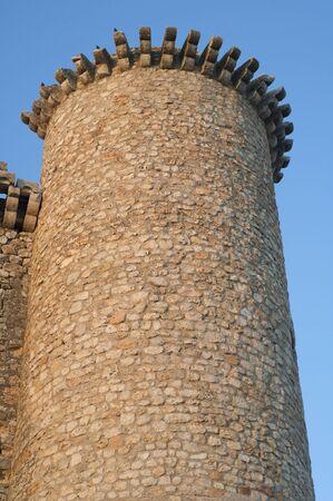 Tower of Torija Castle in Spain photo