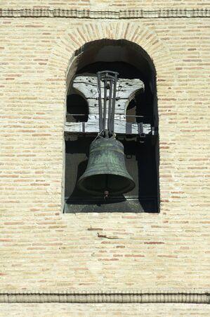 Old bell tower in Santa Maria Church, Ejea de los Caballeros, Saragossa, Spain Stock Photo - 6147608
