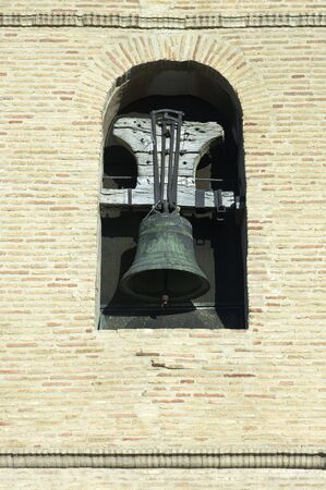 Old bell tower in Santa Maria Church, Ejea de los Caballeros, Saragossa, Spain Stock Photo - 6147608