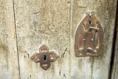 close up of a ancient door photo