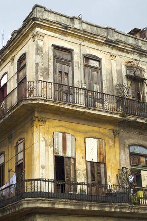 dilapidated: dilapidated building in the city of Havana