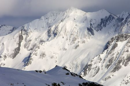 pyrenees: snowy peak in the french Pyrenees