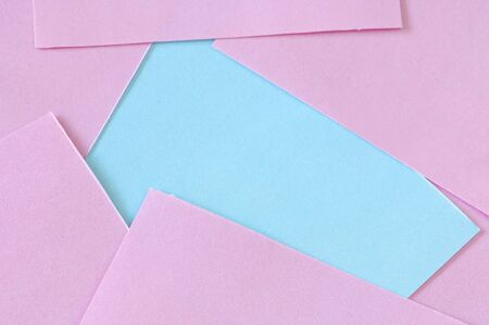 impartiality: pink and blue post it Stock Photo
