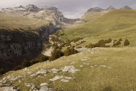 anisclo: Anisclo Valley in Ordesa national Park, Pyrenees, Spain Stock Photo