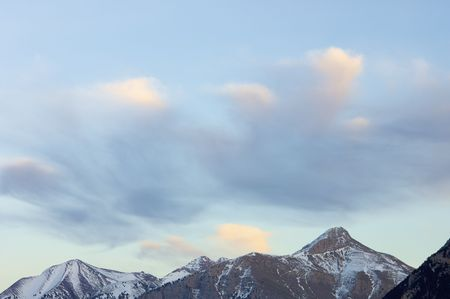 Clouds in the Pyrenees mountains photo
