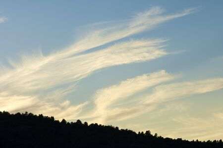 sunset with clouds in Spain photo
