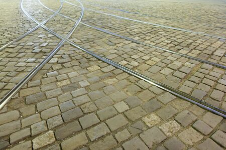 Pavement with Trackage in Czech Republic photo