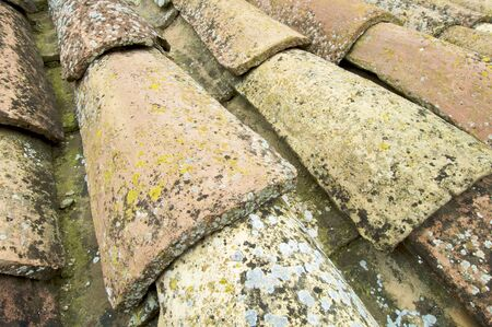 Detail of a Spanish roof tiles photo