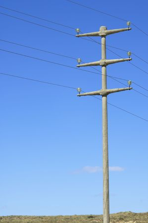 Power pole with blue sky Stock Photo - 6241859