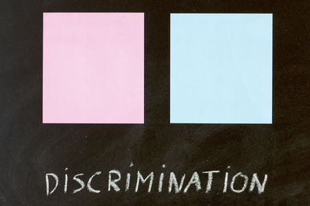 blue and pink paper in a blackboard photo