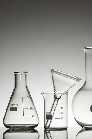 laboratory glass material on a white background Stock Photo - 6301296