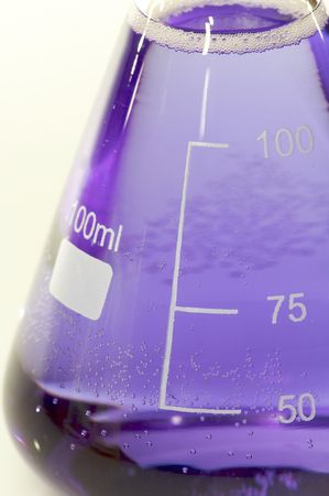 milliliters: detail of a graduated flask hundred milliliters