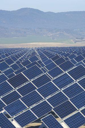 huge solar station and hills photo