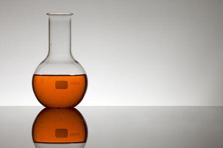 spheric: spheric flask with red liquid