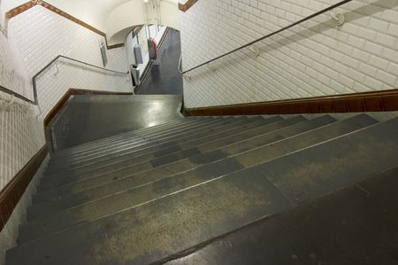 stairs in the subway of paris, france Stock Photo - 6372260