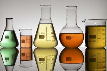 lab equipment with colored liquid Stock Photo - 6372231