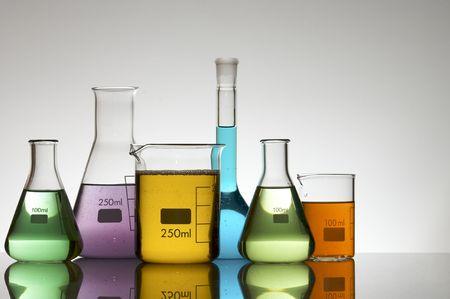 laboratory equipment with liquid color Stock Photo - 6372225