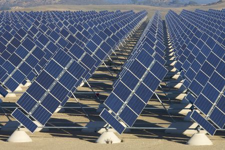 solar station in a sunny day photo