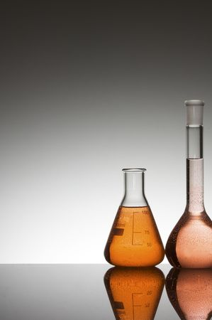 lab equipment with colored liquid Stock Photo - 6372252