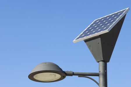 lamp post and photovoltaic panel photo
