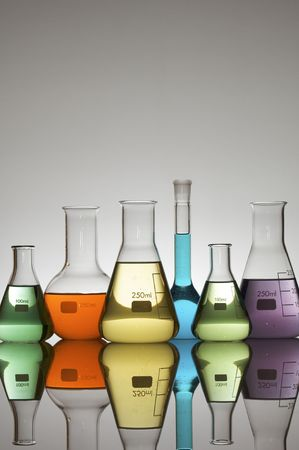 laboratory glassware with white background photo