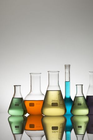 laboratory glassware with white background Stock Photo - 6408598