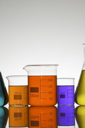 matrass: lab equipment with colored liquid Stock Photo