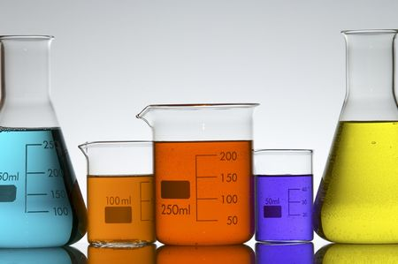 lab equipment with colored liquid Stock Photo - 6434092