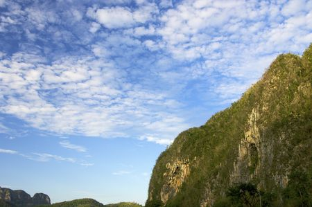 Vinales mountains in Cuba Island photo