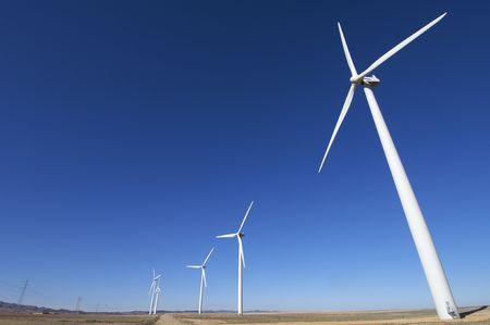 windfarm fied with blue sky Stock Photo - 6434125