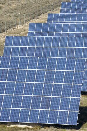photovoltaic panels detail in blue color Stock Photo - 6434105