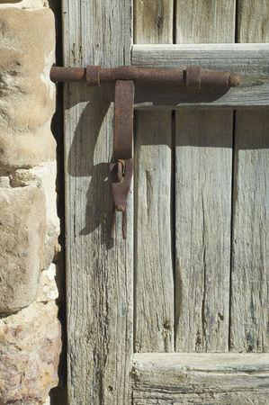old wooden door with rusty lock Stock Photo - 6467564