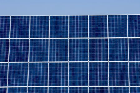 detail of a photovoltaic panel for electricity production photo