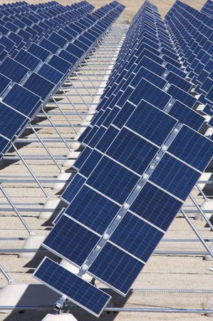 photovoltaic panels detail in blue color Stock Photo - 6588872