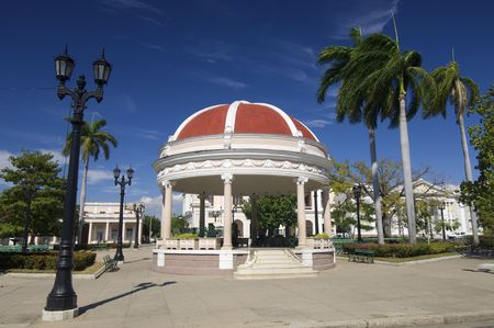 bandstand: bandstand in the Plaza Jose Marti, Cienfuegos, Cuba Stock Photo