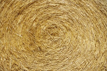 abstract background created by a round bale of straw photo