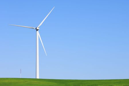 Modern windmill with blue sky Stock Photo - 6852865