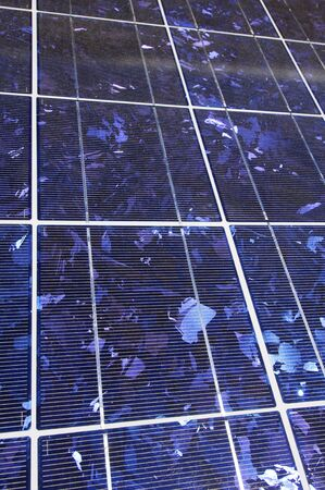 forefront: foreground of a photovoltaic panel for renewable energy production Stock Photo