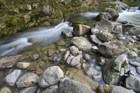 ordesa: view of a mountain river in ordesa national park, Pyrenees, Spain